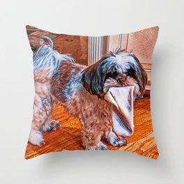 Sock Thief Throw Pillow