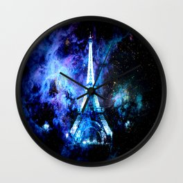 paRis galaxy dreams Wall Clock