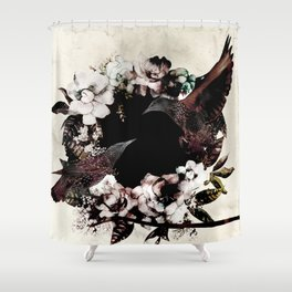 DEEP ROLLERS (STARLINGS) Shower Curtain