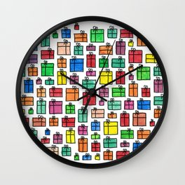 Gift Boxes Wall Clock