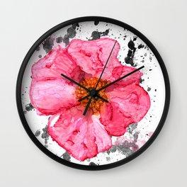 Floral Splash Wall Clock