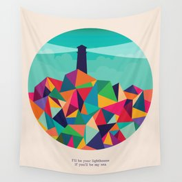 I'll be your lighthouse if you'll be my sea Wall Tapestry