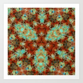 Scifi Rustic Geometric Art Print