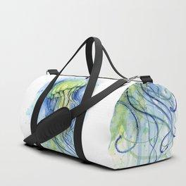 Jellyfish Watercolor Beautiful Sea Creatures Duffle Bag