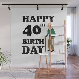 FUNNY OLD | 1978 Birthday Shirt Wall Mural