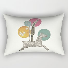 Runaway Horse Rectangular Pillow