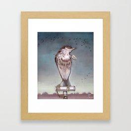 Yearning on a limb. (Bird) Framed Art Print