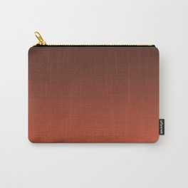 Black and orange. Gradient.  Ombre. Carry-All Pouch