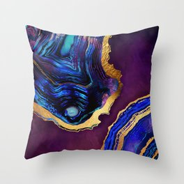 Agate Abstract Throw Pillow