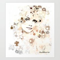 emma stone Art Prints featuring Emma Stone by Rene Alberto