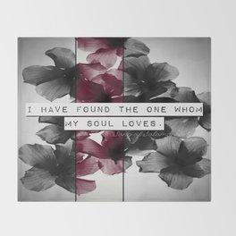 My soul loves Throw Blanket