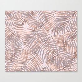 Shady rose gold palms Canvas Print