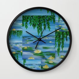 monet style collage Wall Clock