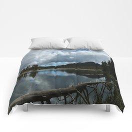 Sprague Lake Cloud Reflection Comforters
