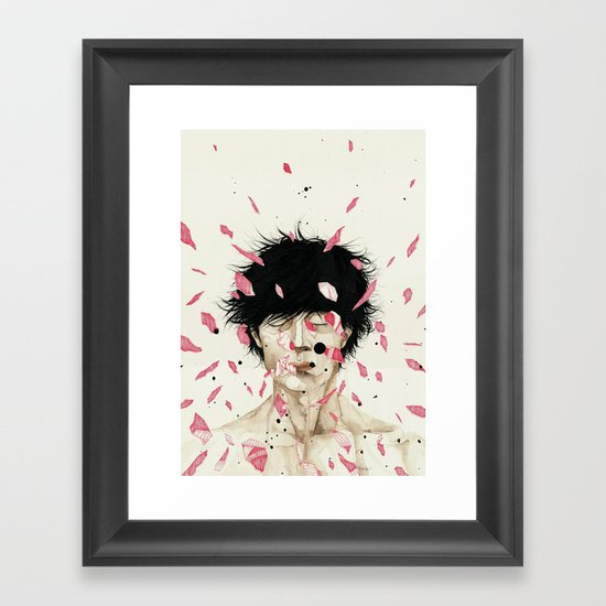N. Framed Art Print