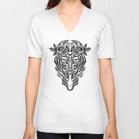 virgo V-neck T-shirts featuring Virgo by Mario Sayavedra