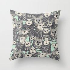 sweater mice mint Throw Pillow