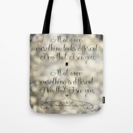 """I See the Light"" by Mandy Moore and Zachary Levi from the movie ""Tangled"" Tote Bag"
