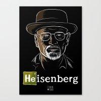 heisenberg Canvas Prints featuring Heisenberg by Caroline Fogaça