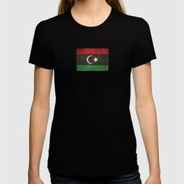 Old and Worn Distressed Vintage Flag of Libya T-shirt