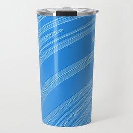 abstract blue metallic texture. Travel Mug