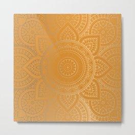 Gold Mandala 12 Metal Print