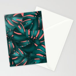 monstera leaves 2 Stationery Cards