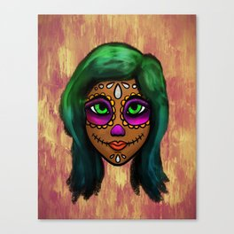 Sugar Skull Sweetie Canvas Print