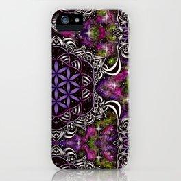 Flower of Life - purple iPhone Case