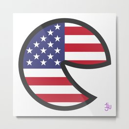 USA Smile Metal Print