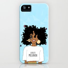 LEGALIZE MELANIN (M) iPhone Case