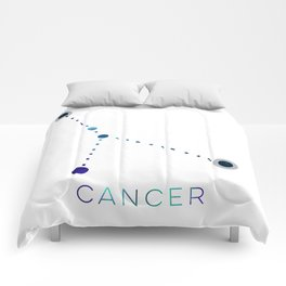 CANCER STAR CONSTELLATION ZODIAC SIGN Comforters