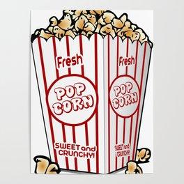 Cartoon Sweet Popcorn Poster