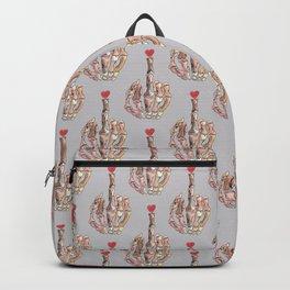 fuck love skull Backpack