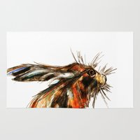 hare Area & Throw Rugs featuring Hare by James Peart