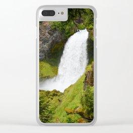 Sahalie Falls Oregon Clear iPhone Case