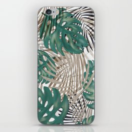 Tropical Leaves Nature Print Palm Fronds iPhone Skin