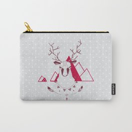 Christmas Geo Deer Carry-All Pouch