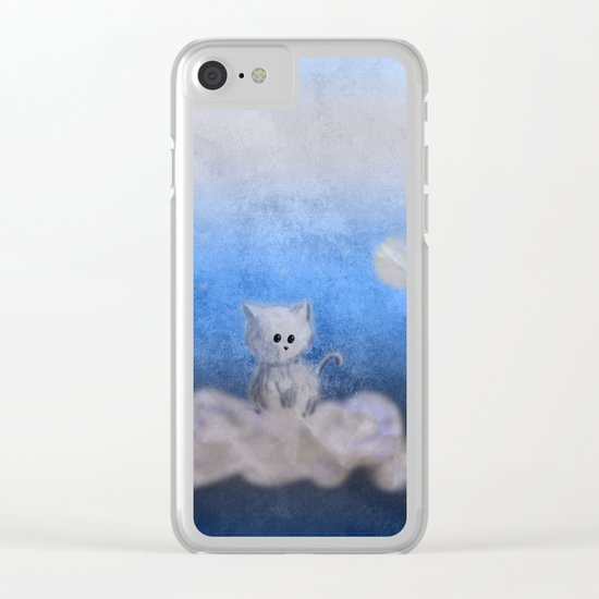 kitten in the sky Clear iPhone Case