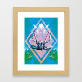 Yoga au Cerf Framed Art Print
