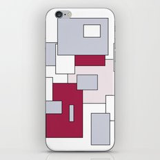 Squares - gray, purple, gray and white. iPhone & iPod Skin