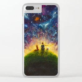 The little Prince original Painting illustration on canvas by Valery Rybakow Clear iPhone Case