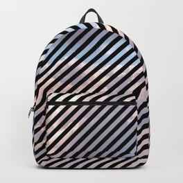 Black Striped Clouds Backpack