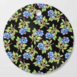Wild Blueberry Sprigs Cutting Board