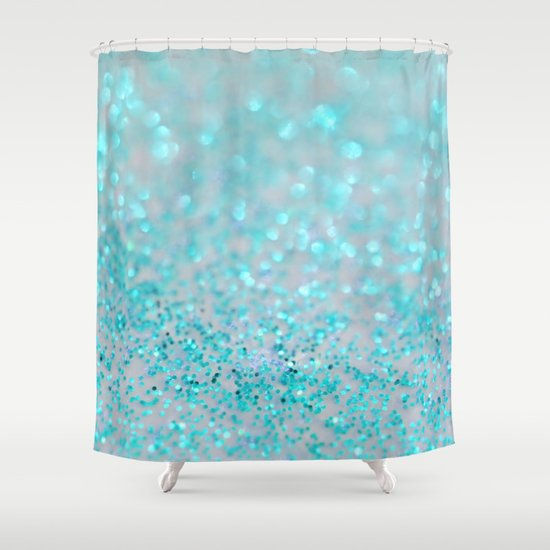 sweetly aqua shower curtain by lisa argyropoulos society6