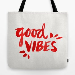 Good Vibes – Red Ink Tote Bag