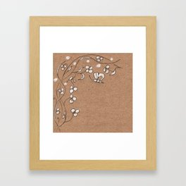 Floral pattern with butterfly Framed Art Print