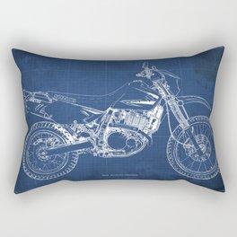 2012 Suzuki DR650SE, motorcycle blueprint, gift for biker Rectangular Pillow