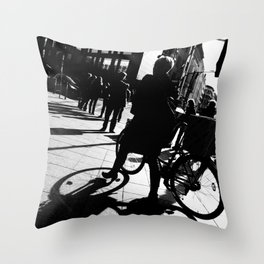 Berlin's streets in black and white 2 Throw Pillow