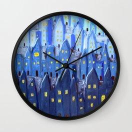 Cidade à Noite Wall Clock